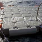 pcm docks balsa con escalera muelle flotante